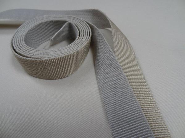 23 mm PES Gurtband beige / grau