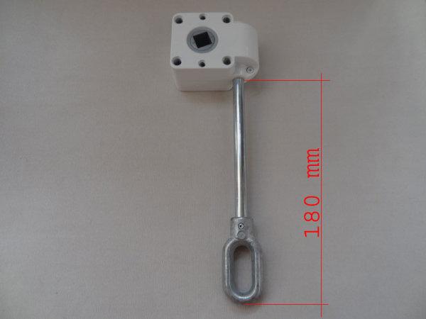 Schneckengetriebe 7:1, 38 mm, 13 mm Abtrieb langer Antrieb weiss