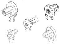 Rollo-Kettenzuggetriebe