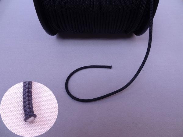 4 mm Dyneemaschnur, schwarz