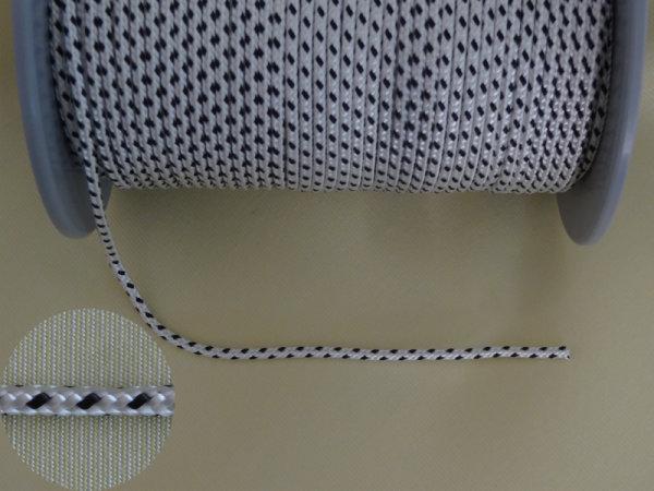 Rollladenzugschnur schwarz/weiß