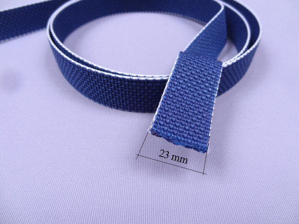Meterware Aufzuggurt 23 mm dunkelblau