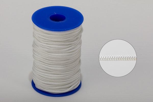 2,2 mm Nylon- Zugschnur - weiß - Meterware